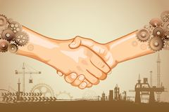 Industrial Handshake Stock Images