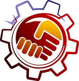 Industrial handshake Royalty Free Stock Photos