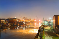Industrial harbor Royalty Free Stock Images