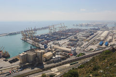 Industrial Harbor of Barcelona Royalty Free Stock Photos