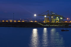 Industrial harbor. Stock Images