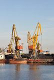 Industrial Harbor Crane Stock Image