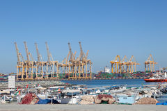 Industrial harbor in Khor Fakkan Royalty Free Stock Photography