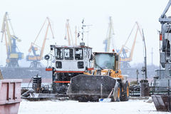 Industrial harbor of latvia Royalty Free Stock Photos