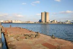 Industrial harbour Stock Image