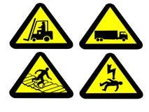 Industrial hazard signs Stock Photos