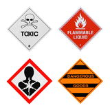 Industrial Hazards Signs Stock Photos