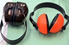 Industrial headphones Stock Photography