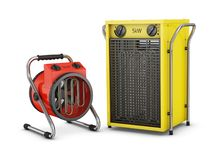 Industrial heat fans Royalty Free Stock Photography