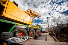 Industrial heavy duty mobil crane Royalty Free Stock Photos