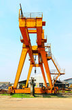 Industrial heavy lift crane Royalty Free Stock Photo