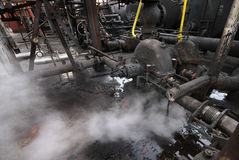 Industrial heavy pump and pipework. Stock Photos