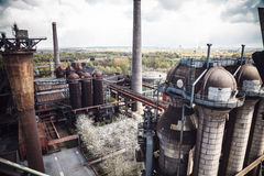 Industrial heritage installations at the Landscape Park Duisburg Stock Photo