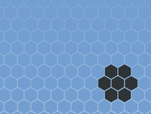 Industrial Hexagon Design. A light blue background with industrial/futuristic hexagons Stock Image