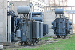 Industrial High voltage converter Stock Photos