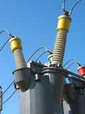 Industrial high voltage converter detail Royalty Free Stock Photos