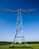 Industrial high voltage power line Stock Image