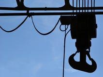 Industrial hook. Backlit shot Stock Images