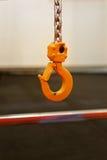Industrial Hook. Overhead Hoist Industrial Hook With Chain Stock Image