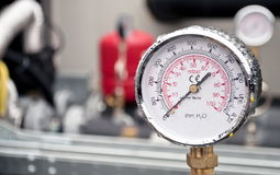 Industrial hydraulic barometer Stock Photos