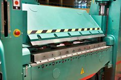 Industrial hydraulic press Stock Images