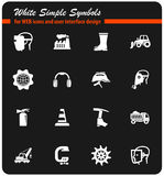 Industrial icon set Stock Image