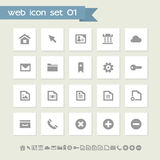 Industrial icon set. Simple flat buttons Stock Photo