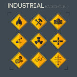 Industrial  icon set. Stock Image
