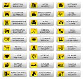 Industrial icons Stock Images