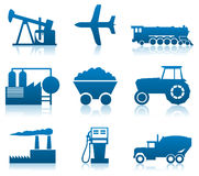 Industrial icons Stock Photo