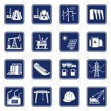 Industrial icons set Royalty Free Stock Photos