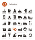 Industrial icons9. Set of icons on a theme the industry. A vector illustration Stock Images