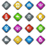 Industrial icons set Stock Images