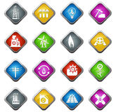 Industrial icons set Royalty Free Stock Image