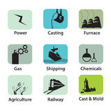 Industrial Icons Stock Photography