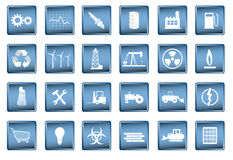 Industrial icons in vector format Royalty Free Stock Images
