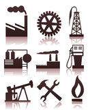 Industrial icons2. Collection of icons on a theme the industry. A  illustration Royalty Free Stock Images