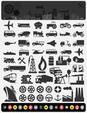 Industrial icons3 Stock Photography