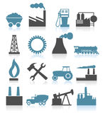 Industrial icons5. Set of icons on a theme the industry. A vector illustration Royalty Free Stock Images