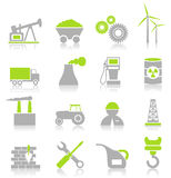 Industrial icons7 Royalty Free Stock Photos