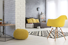 Industrial image of stylish room Stock Photos