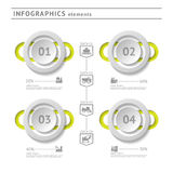 Industrial infographics elements. Modern design te Stock Photography