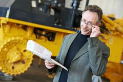 Industrial ingineer manager Stock Images