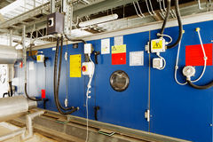 Industrial installation for converting solar energy into electrical energy Stock Photos