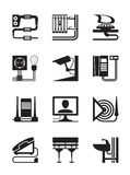 Industrial installations. Industrial and construction installations - vector illustration Royalty Free Stock Photos