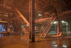 Industrial Interior. Interior of a dirty, grungy industrial environment Royalty Free Stock Images