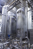 Industrial interior of an alcohol factory Royalty Free Stock Photo