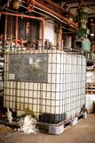 Industrial interior with chemical tanks Stock Photos