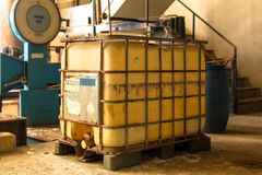 Industrial interior with chemical tanks Royalty Free Stock Photos