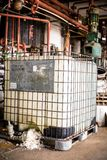 Industrial interior with chemical tanks Royalty Free Stock Image